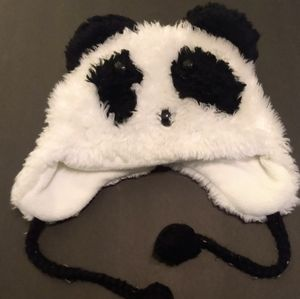 Justice panda hat with ear flaps